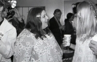 At a McGovern fundraising event, 1972